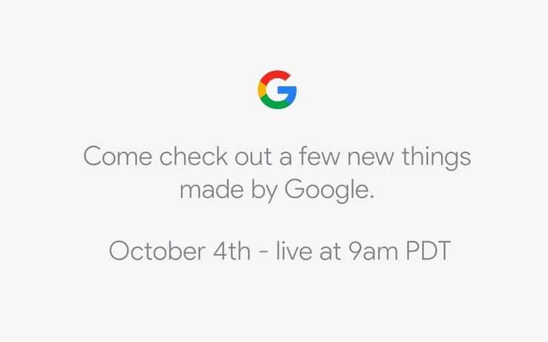 Conférence Google Pixel 2