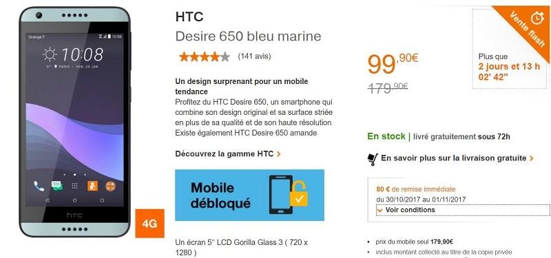 htc desire 650 orange
