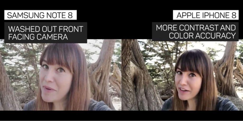 iphone 8 plus vs galaxy note 8 vidéo caméra