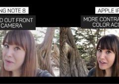 iphone 8 plus vs note 8 camera video