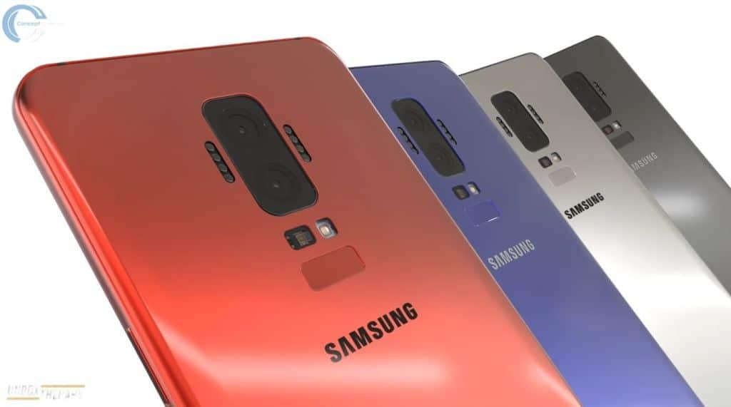 samsung galaxy S9 dos diferent S8