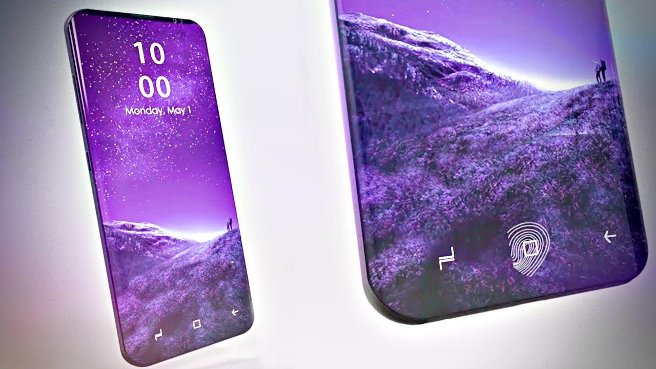 samsung galaxy S9 logo violet