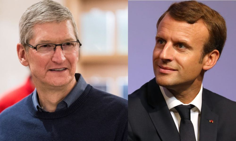 taxation gafa macron tim cook
