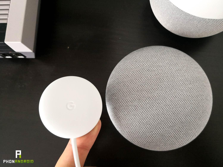 test google home mini chargeur