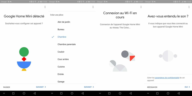 test google home mini installation