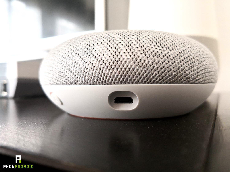 test google home mini usb