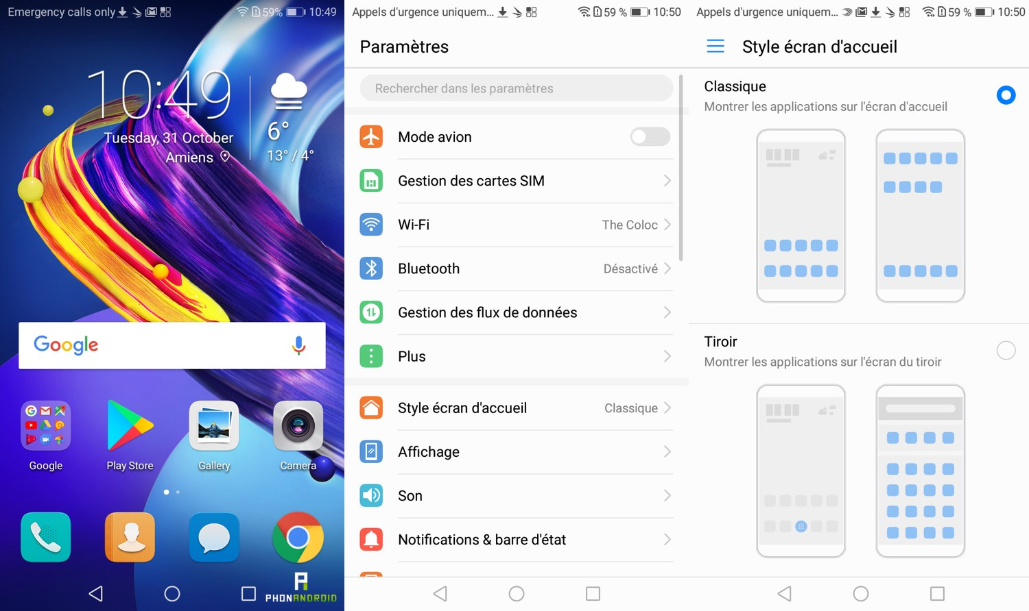test honor 6c pro interface