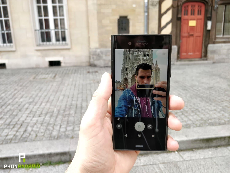 test sony xperia xz1 selfie
