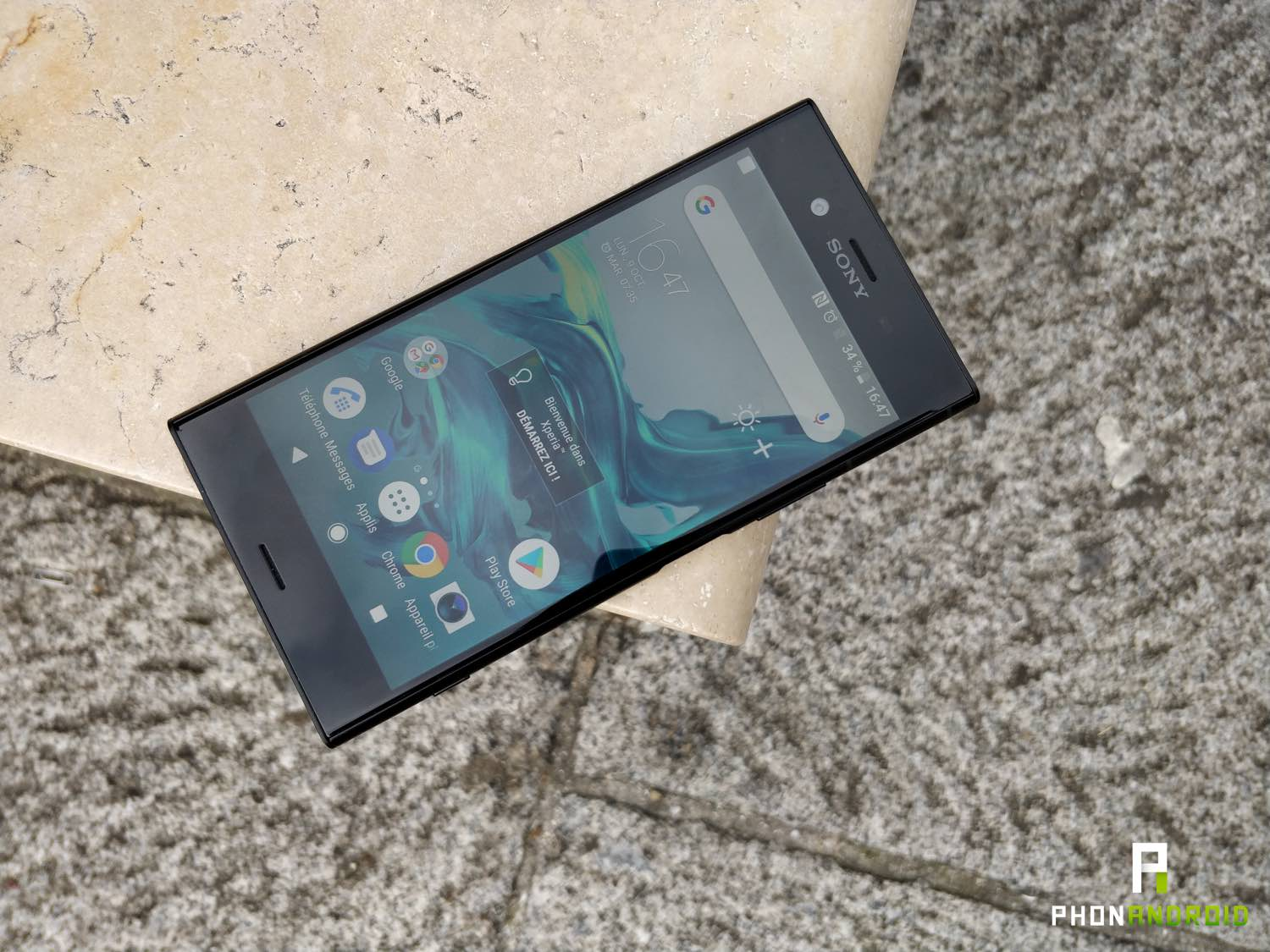 test xperia xz1 review ecran