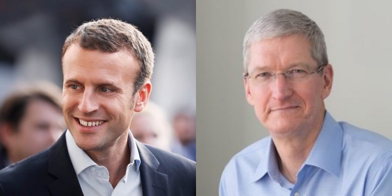 apple tim cook macron