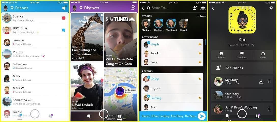 Snapchat nouvelle interface