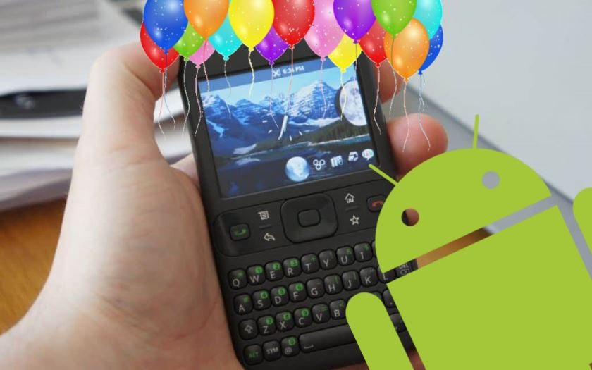 android 10 ans premiere version presentation