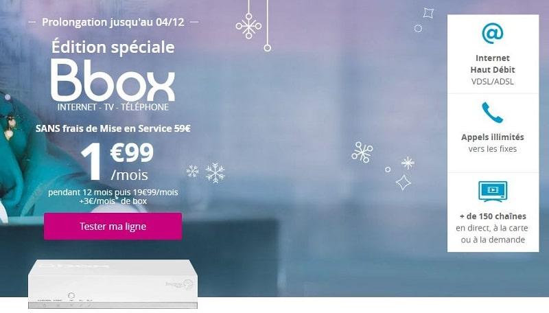 Abonnement internet Bbox à 1.99€