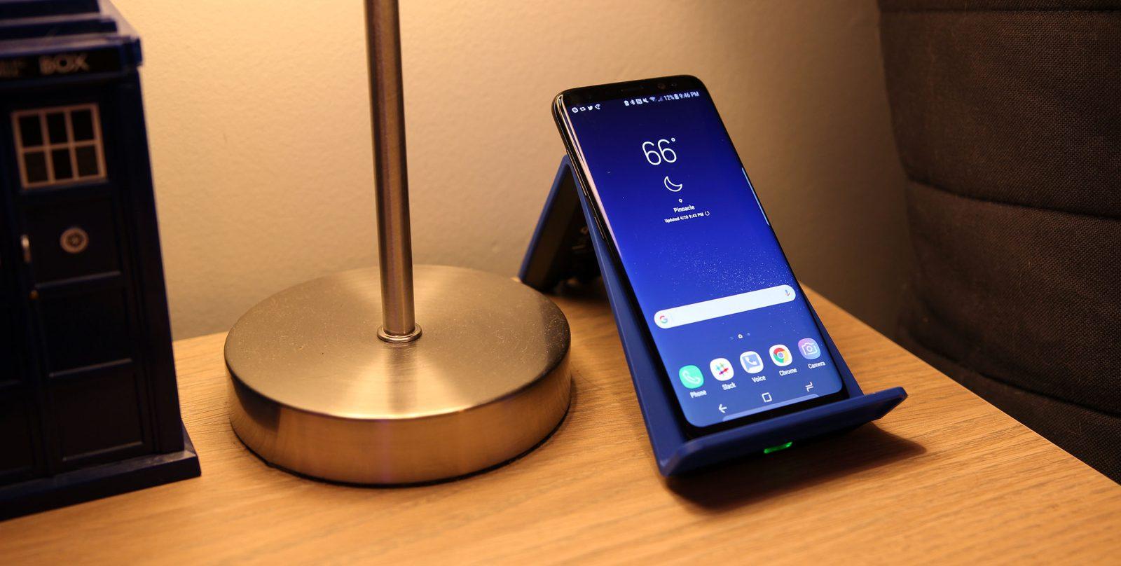 galaxy S8 recharge sans fil problèmes samsung confirme