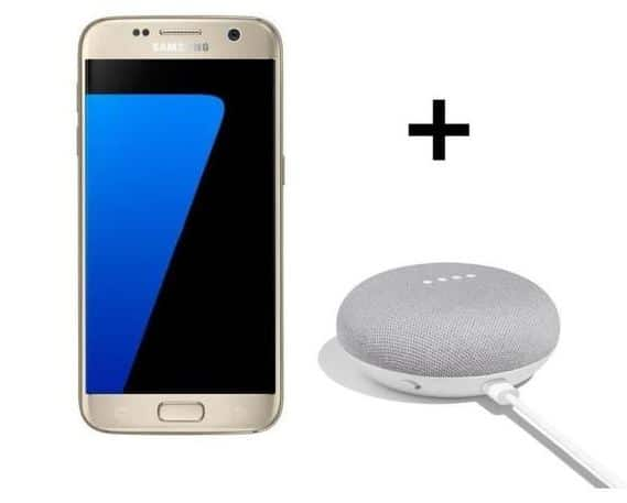 Samsung Galaxy S7 or avec Google Home Mini