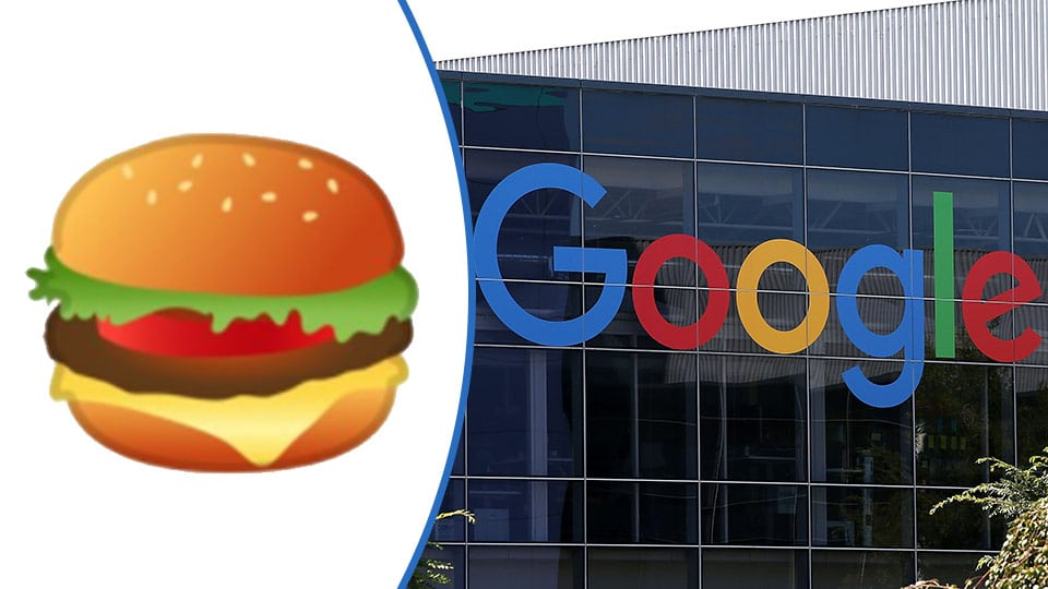 google emoji burger