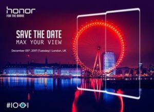 honor v10 invitation sortie 5 décembre 2017 kirin 970 mate 10 huawei