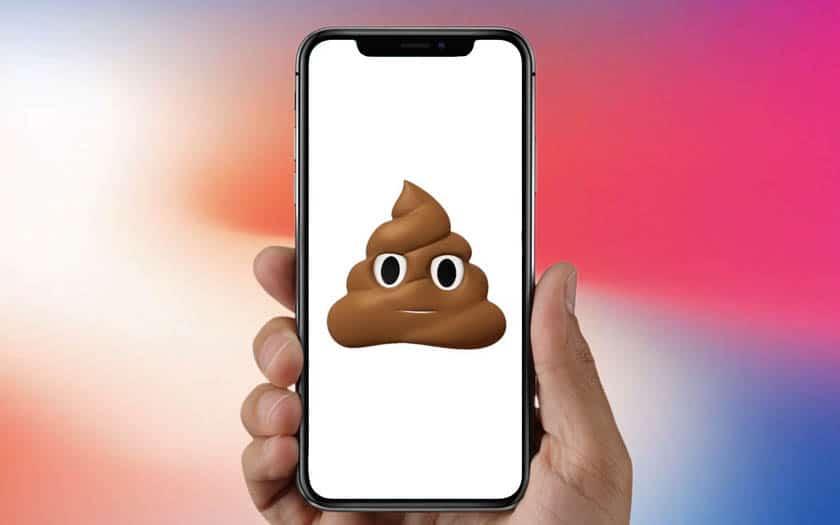 iphone x poop