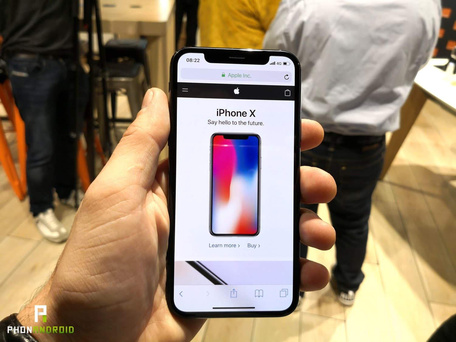 iphone x prise en main ecran encoche