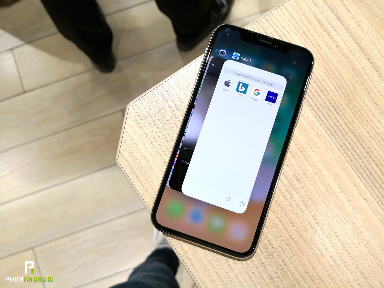 iphone x prise en main multitâche