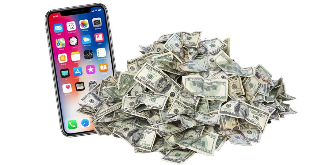 iphone x prix banques virement fraude