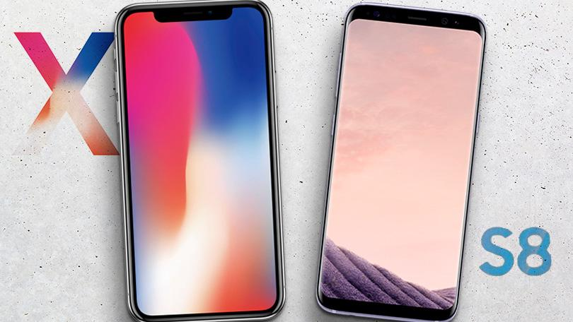 iphone x vs galaxy S8 ados adutes