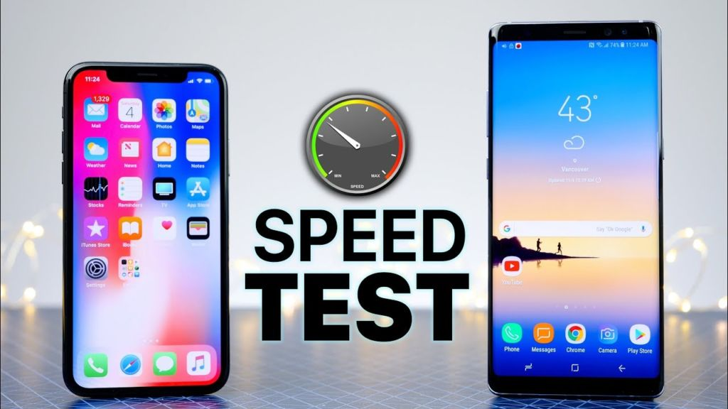 iphpne x vs galaxy note 8 speed test
