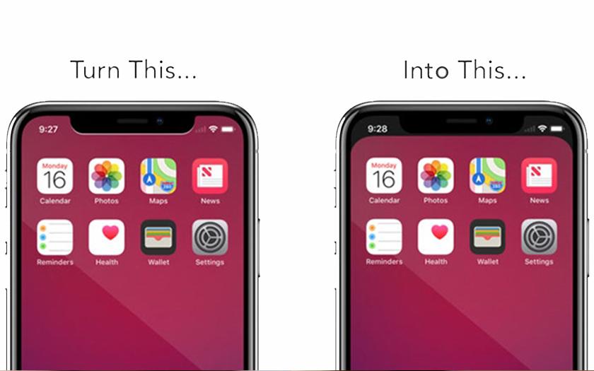 notcho cacher encoche iphone x