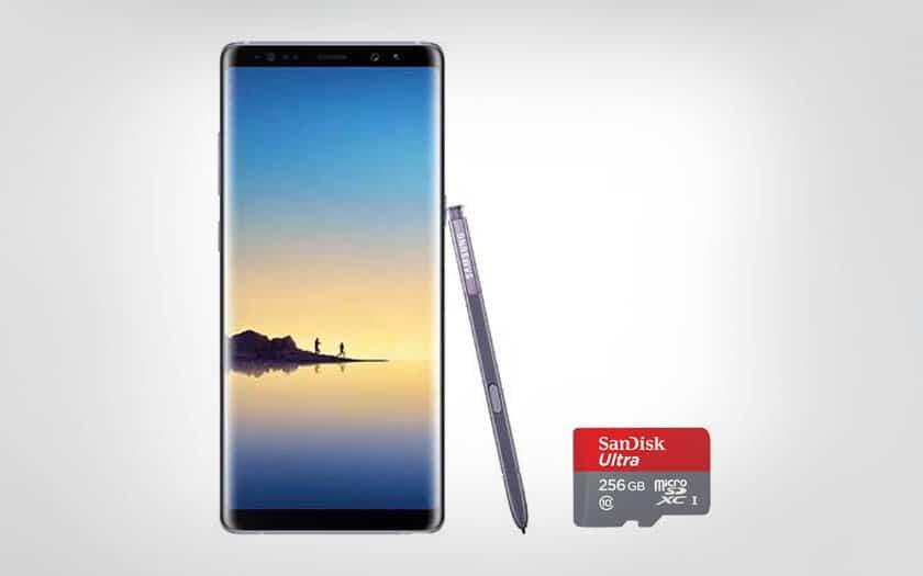 Cyber Monday Galaxy Note 8 + carte MicroSD 256 go
