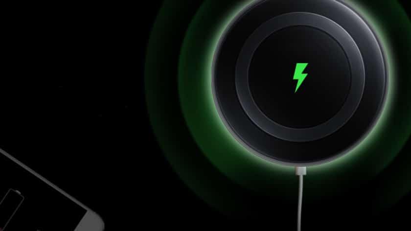 recharge sans fil lente