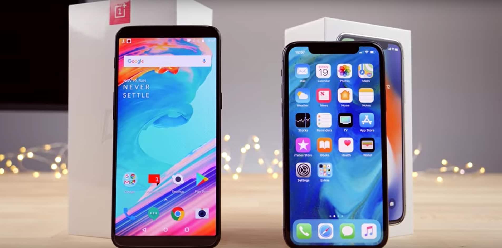 oneplus 5T vs iPhone X speed test