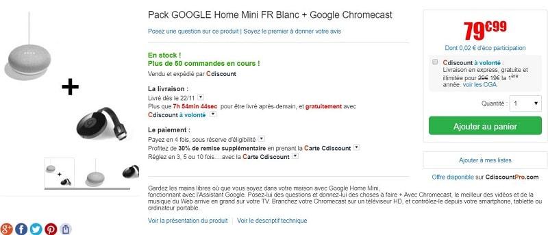 pack google home mini