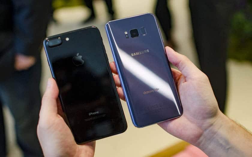samsung galaxy s8 iphone