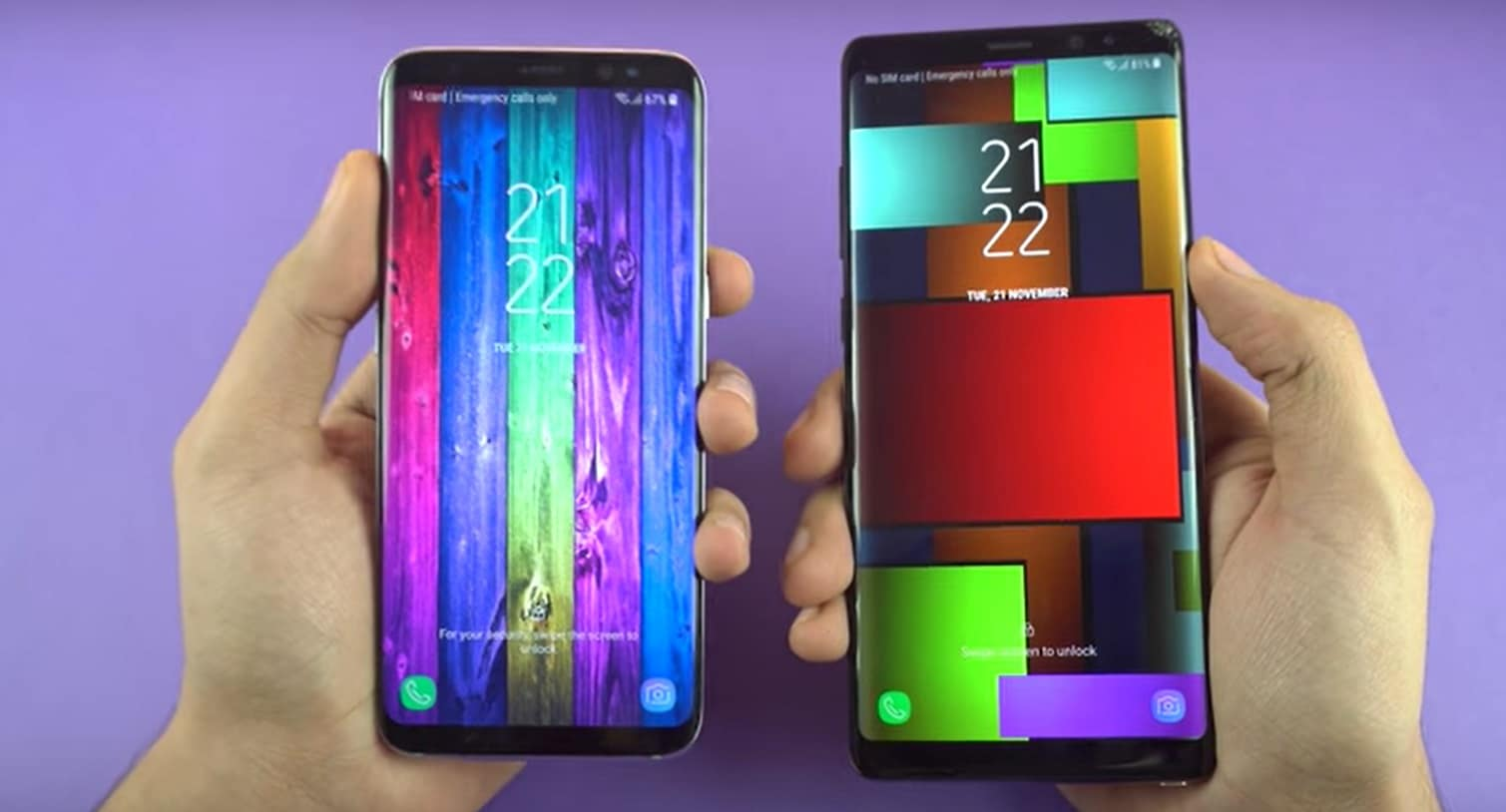 samsung galaxy S8 oreo vs galaxy note 8 nougat speed test vidéo performances vitesse