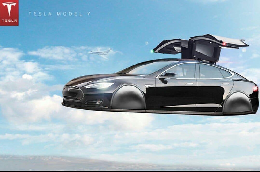 tesla elon musk imagine un roadster volant inspir des fus es. Black Bedroom Furniture Sets. Home Design Ideas