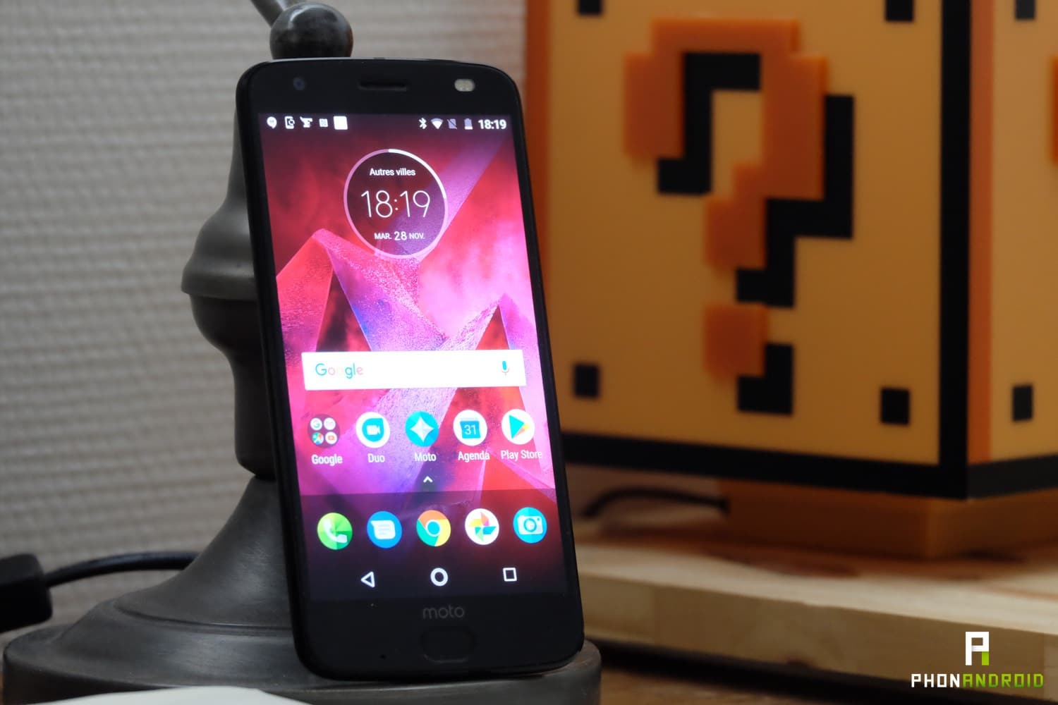 test motorola moto z2 force ecran
