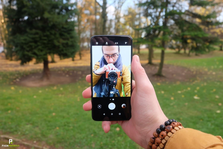 test oneplus 5t appareil photo selfie