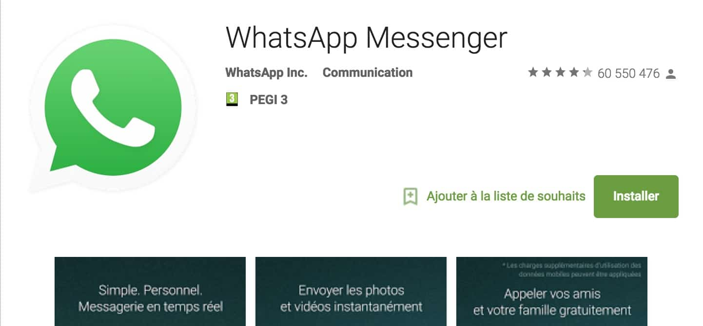 whatsapp play store