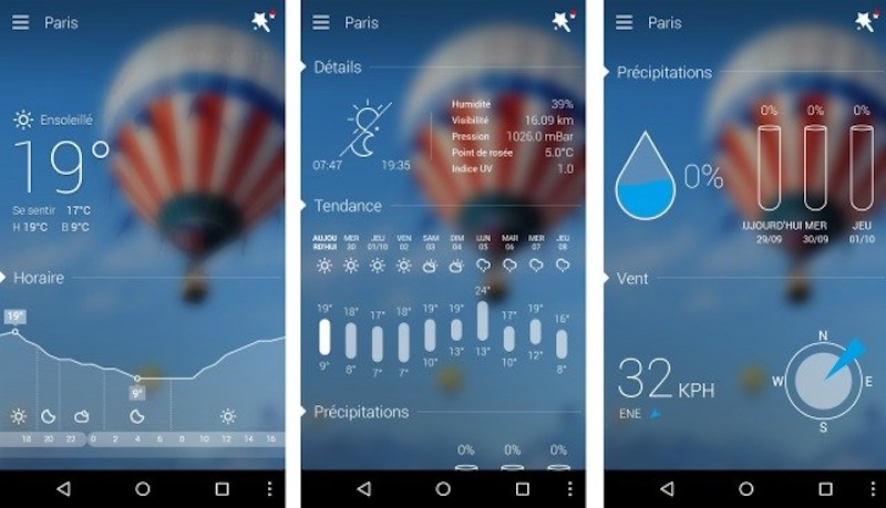 applications android neige meteo