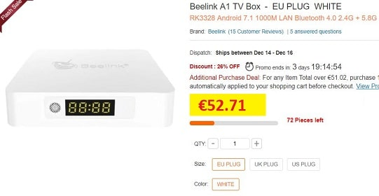 beelink a1 box tv