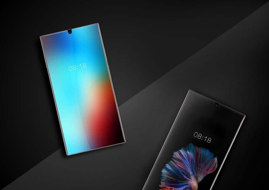 smartphone android borderless dépasse bornes