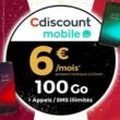 cdiscount forfait 100 go a 6 euros par mois pendant 6 mois