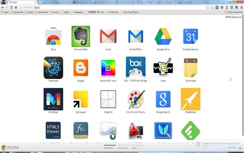 chrome web store applications