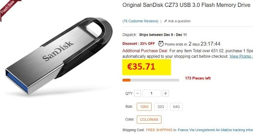 cle usb sandisk ultra flair
