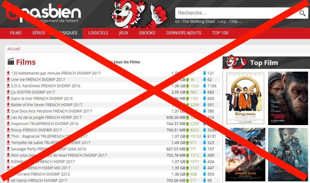 cpasbien sites pirates bloques