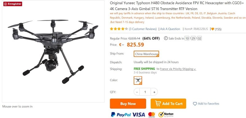 drone yuneec h480 typhoon