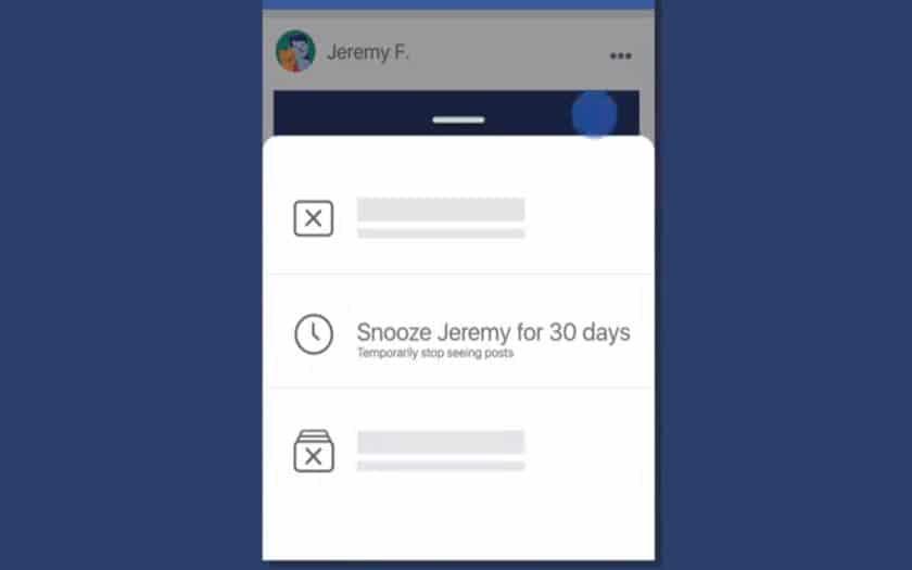 facebook snooze amis