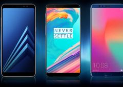 galaxy A8 oneplus 5T honor view 10 comparatif