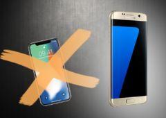 galaxy S7 vs iPhone x consumer reports