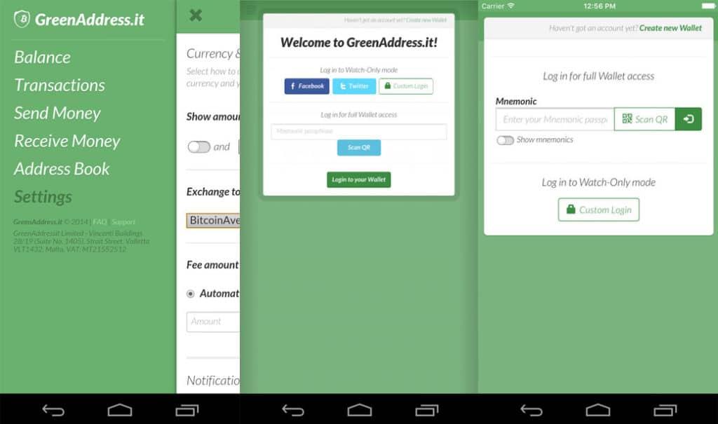 greenaddress cordova